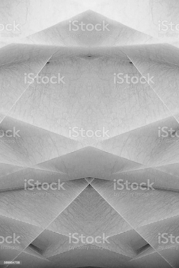 Paper model for modern architecture. Facade fragment with several levels stock photo