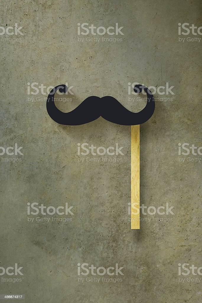 Paper mustache placard stock photo
