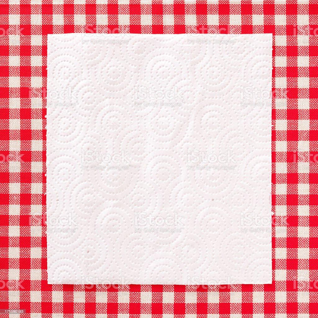 Paper napkin royalty-free stock photo