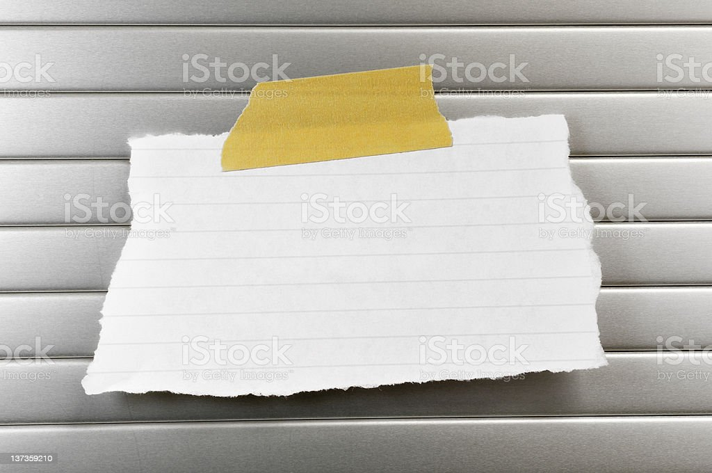 Paper note royalty-free stock photo