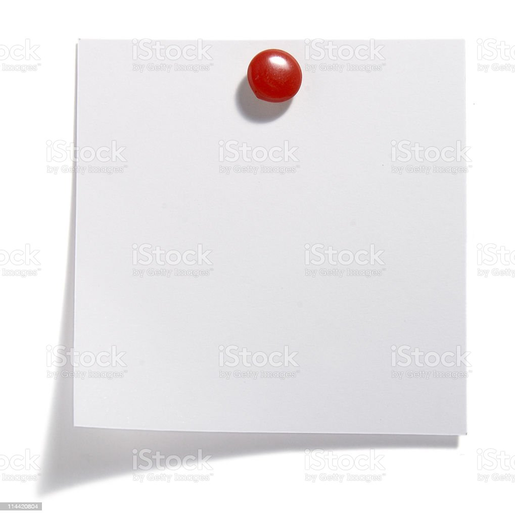 paper note with red clip royalty-free stock photo