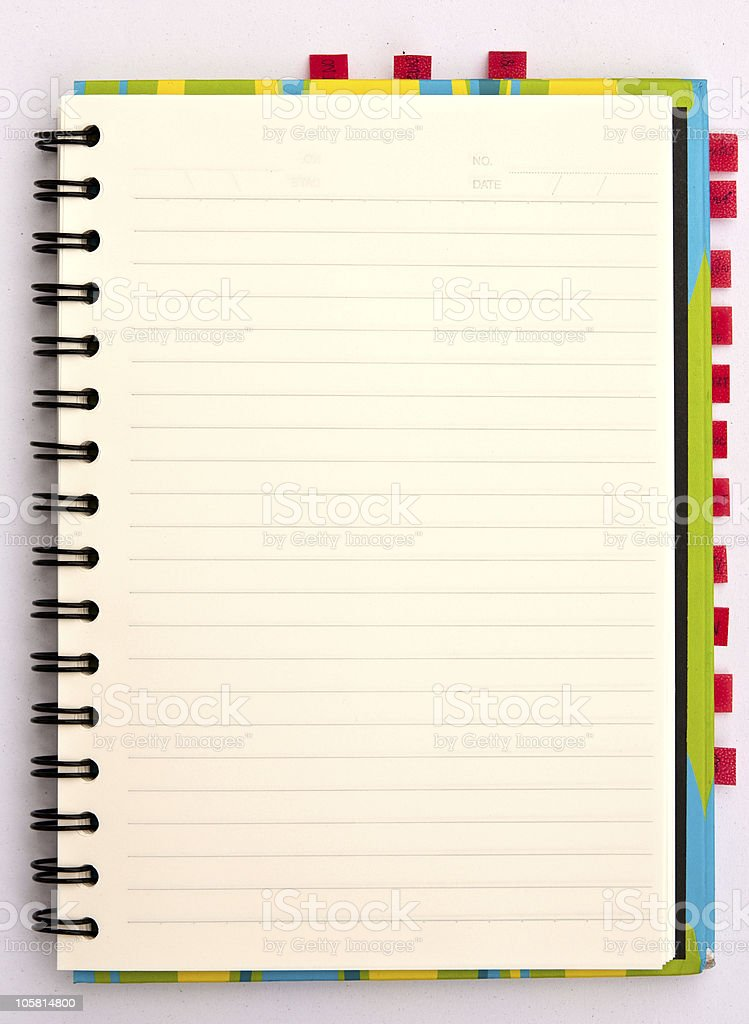 Paper notebook royalty-free stock photo