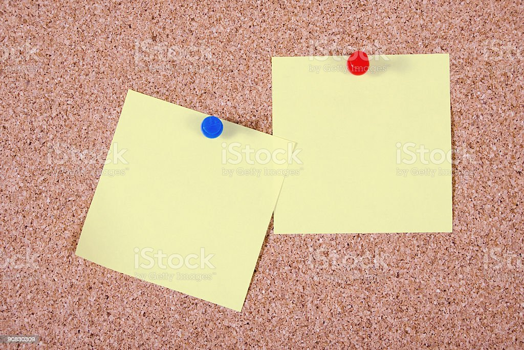 Paper notes on clipboard royalty-free stock photo