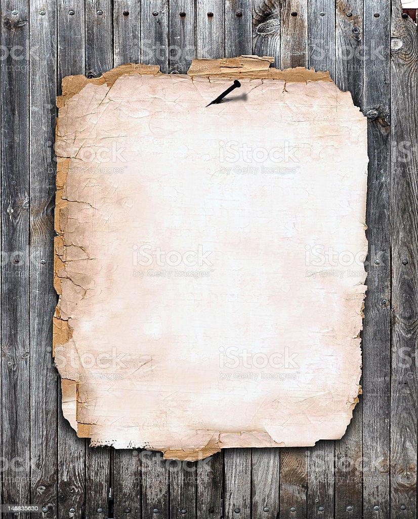 Papel en una valla foto de stock libre de derechos