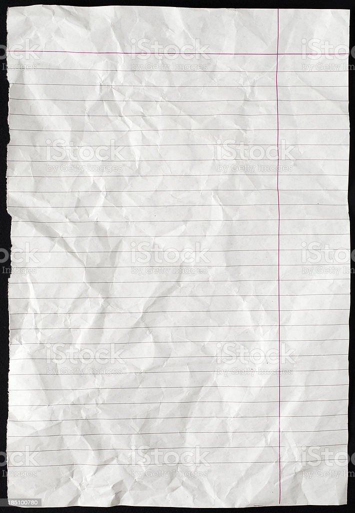 Paper on black background stock photo