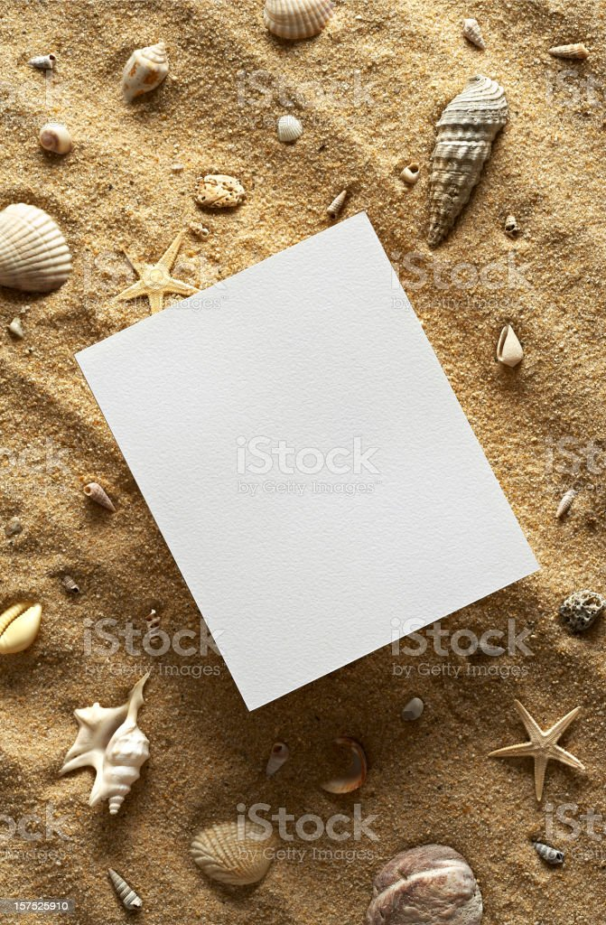 Paper on the sand royalty-free stock photo
