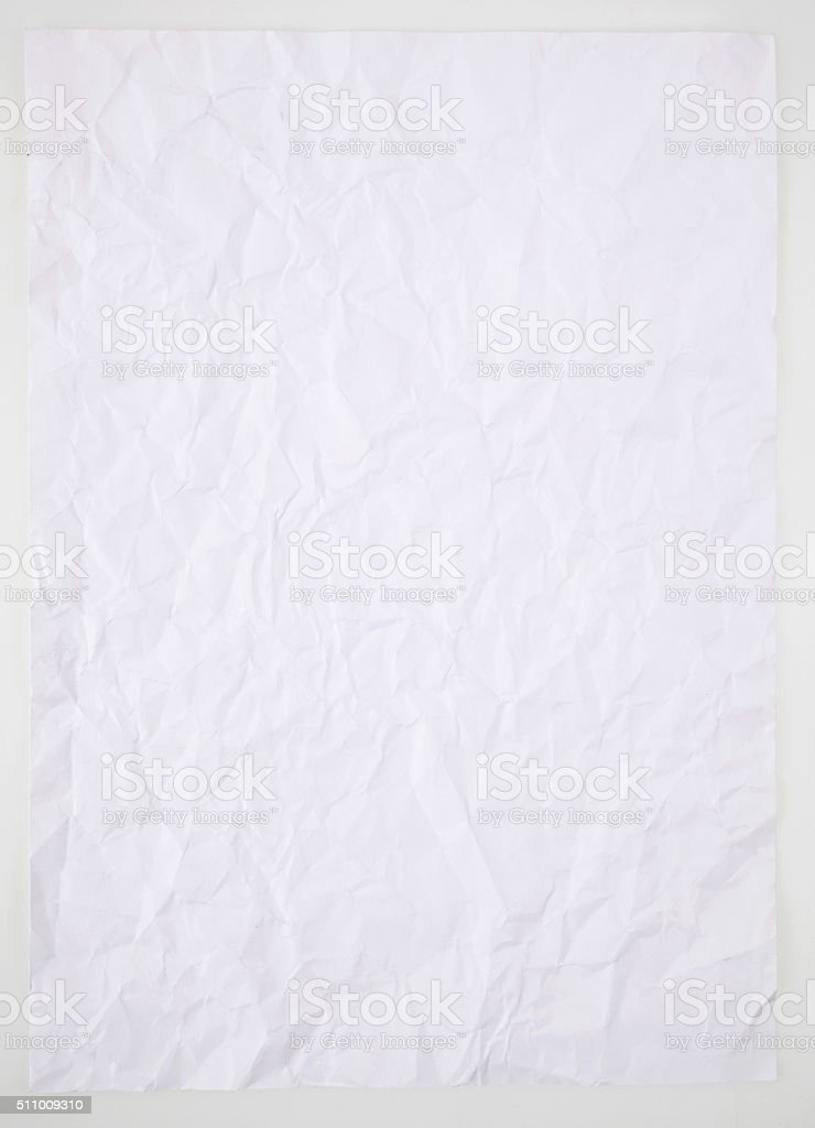 Paper on white background stock photo