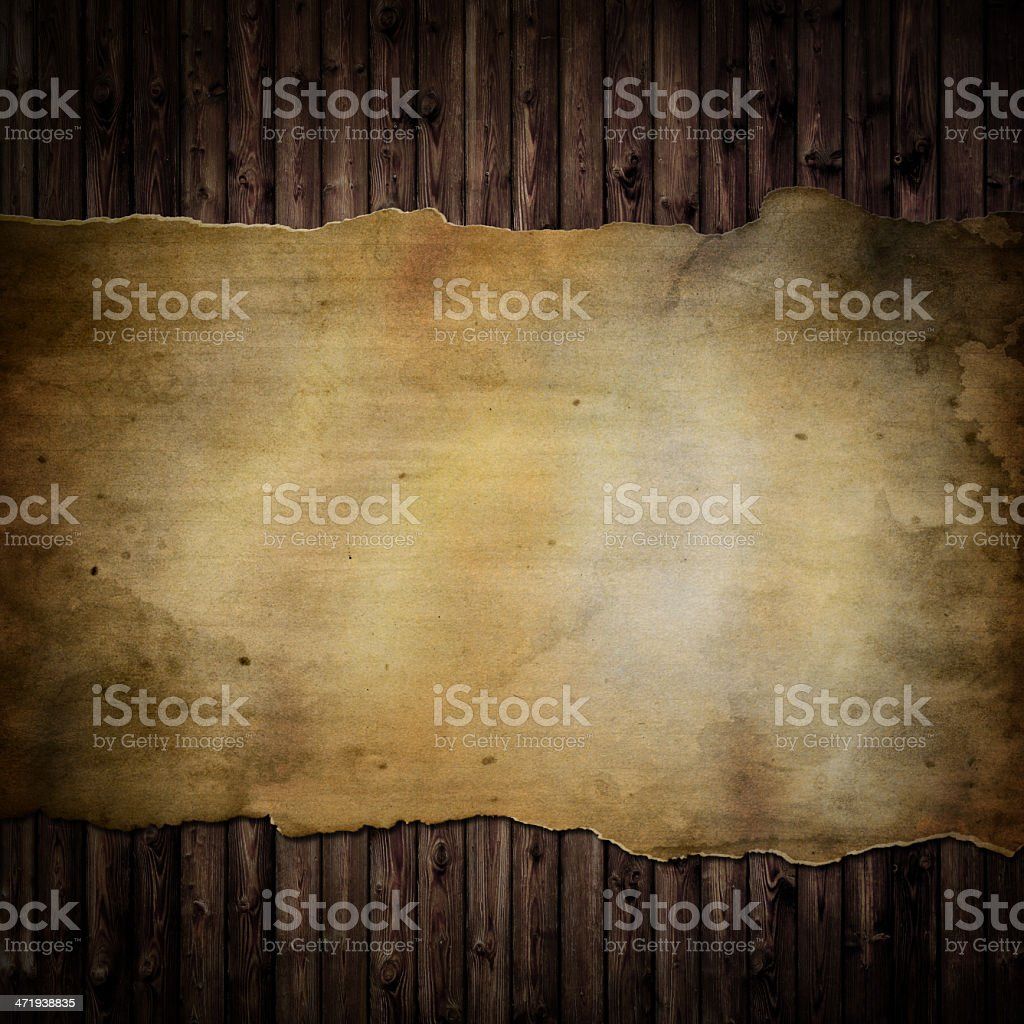 Paper on Wood Background stock photo