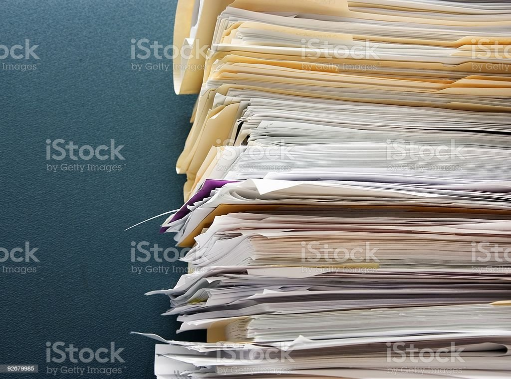 Paper overload royalty-free stock photo