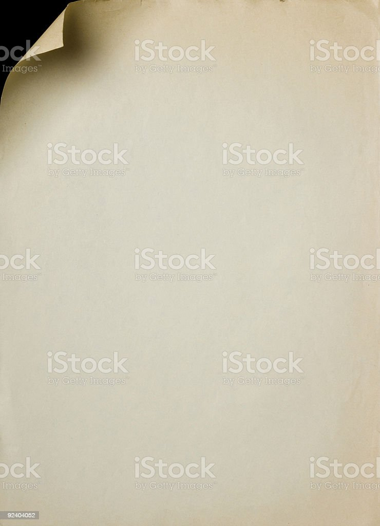 paper page curl royalty-free stock photo