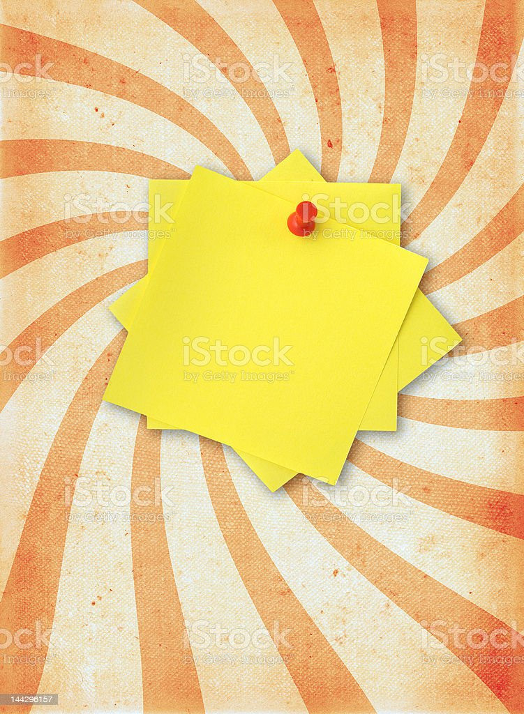 paper page with adhesive note royalty-free stock photo
