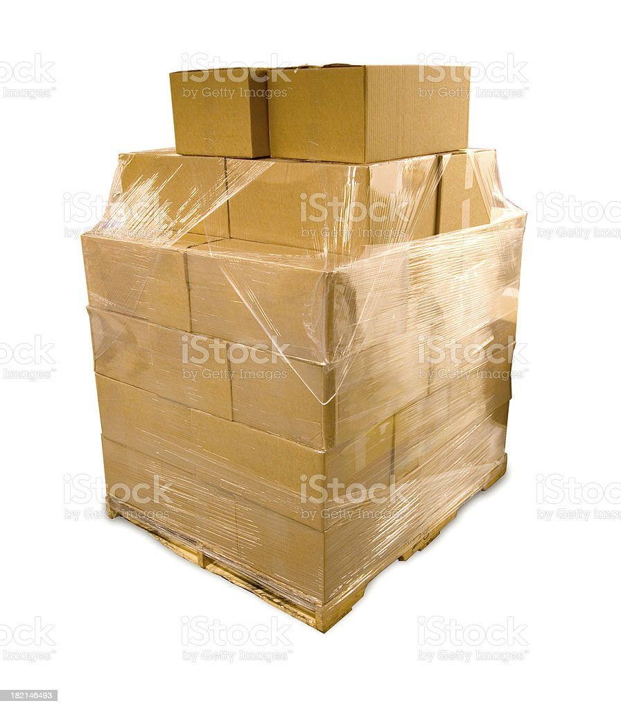 Paper Pallet stock photo