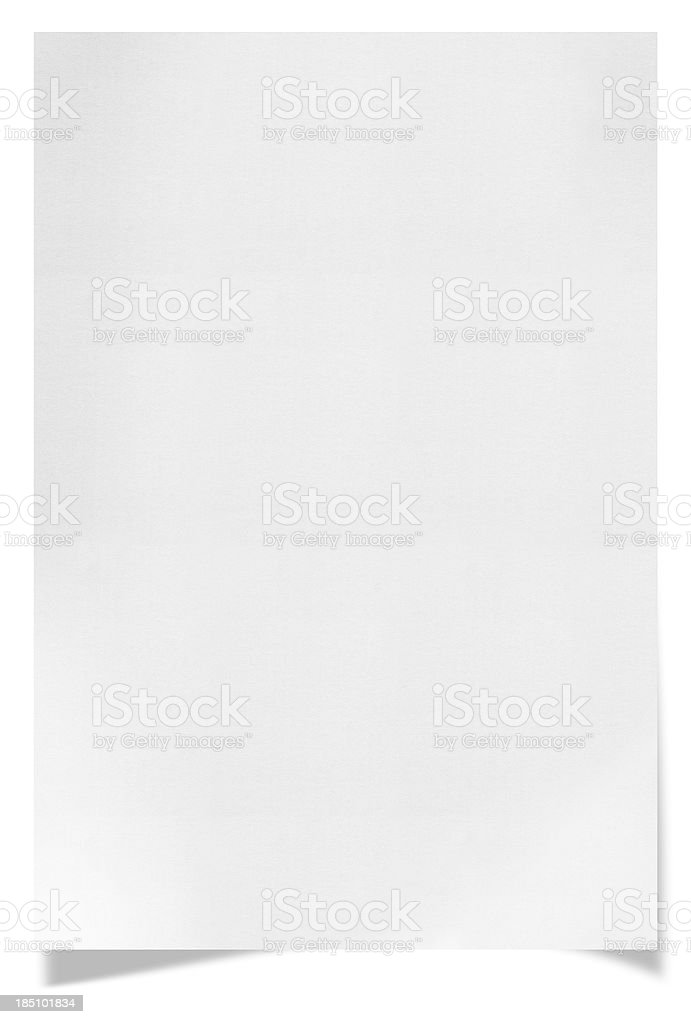 Paper (clipping path) stock photo