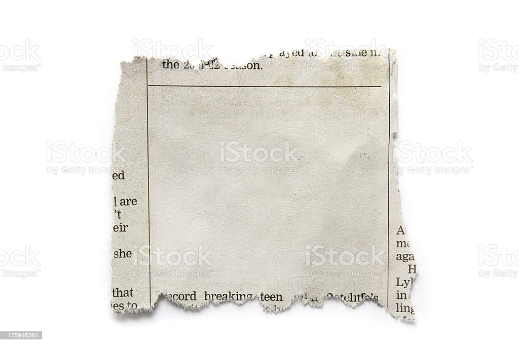 Paper piece royalty-free stock photo