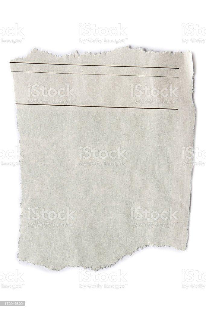 Paper piece stock photo
