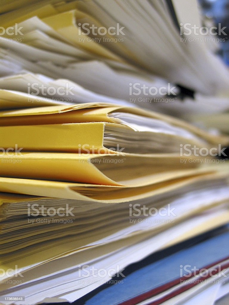 Paper Pile - 02 royalty-free stock photo