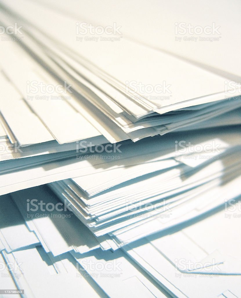 Paper Pile -04 royalty-free stock photo