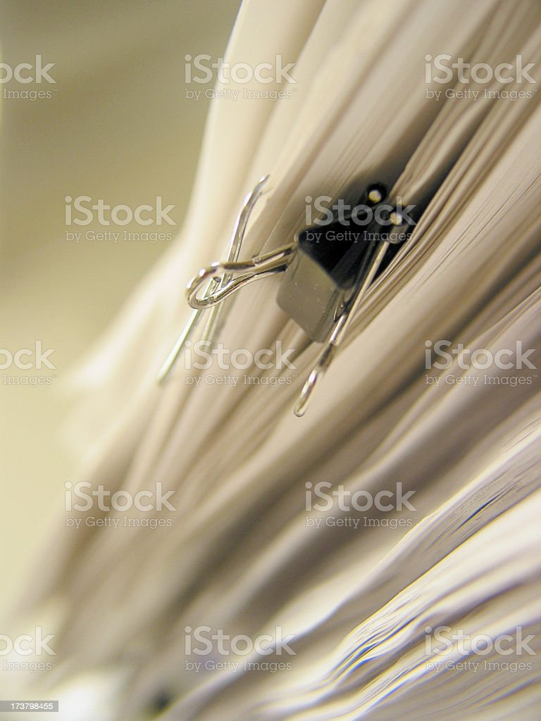 Paper Pile - 06 stock photo