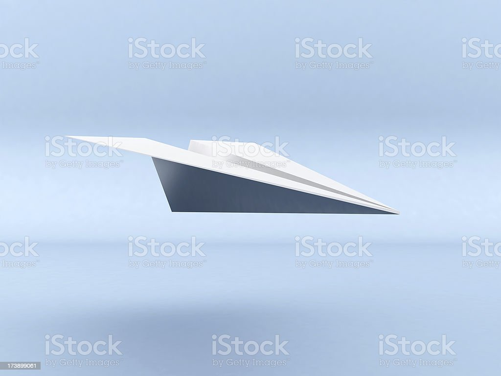 3D Paper Plane Flying royalty-free stock photo