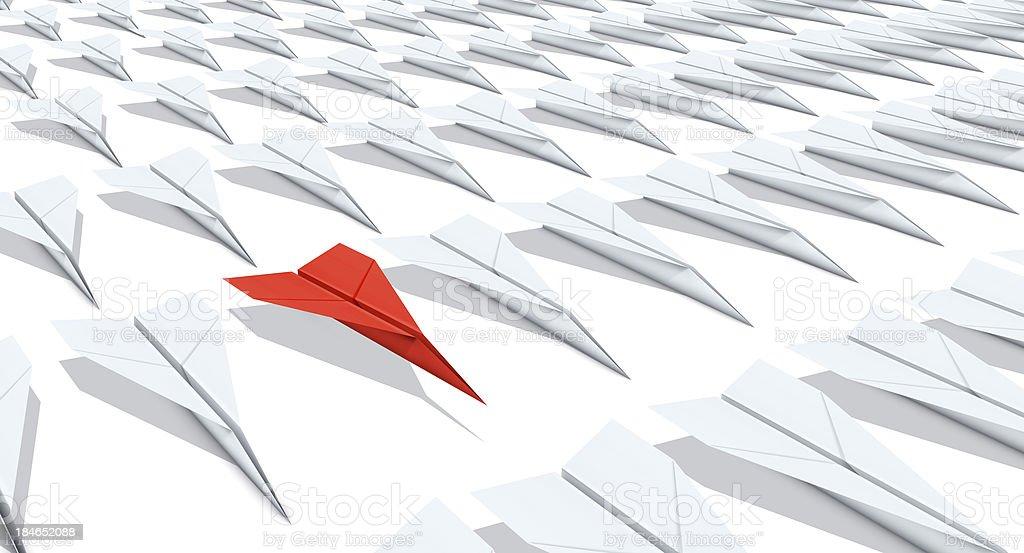 Paper Plane Individual: Grid stock photo