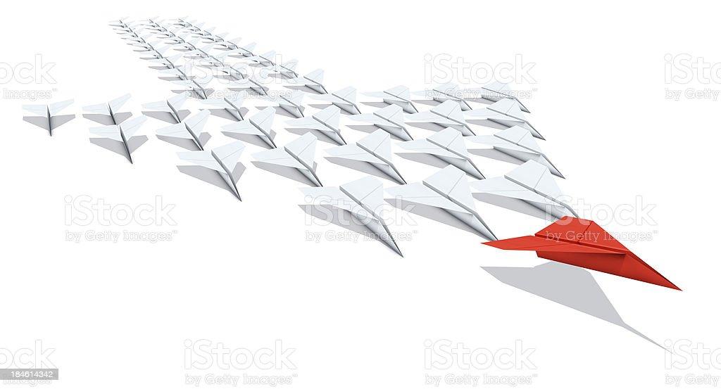 Paper Plane Individual: Leader stock photo