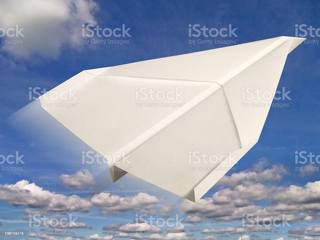 paper plane royalty-free stock photo