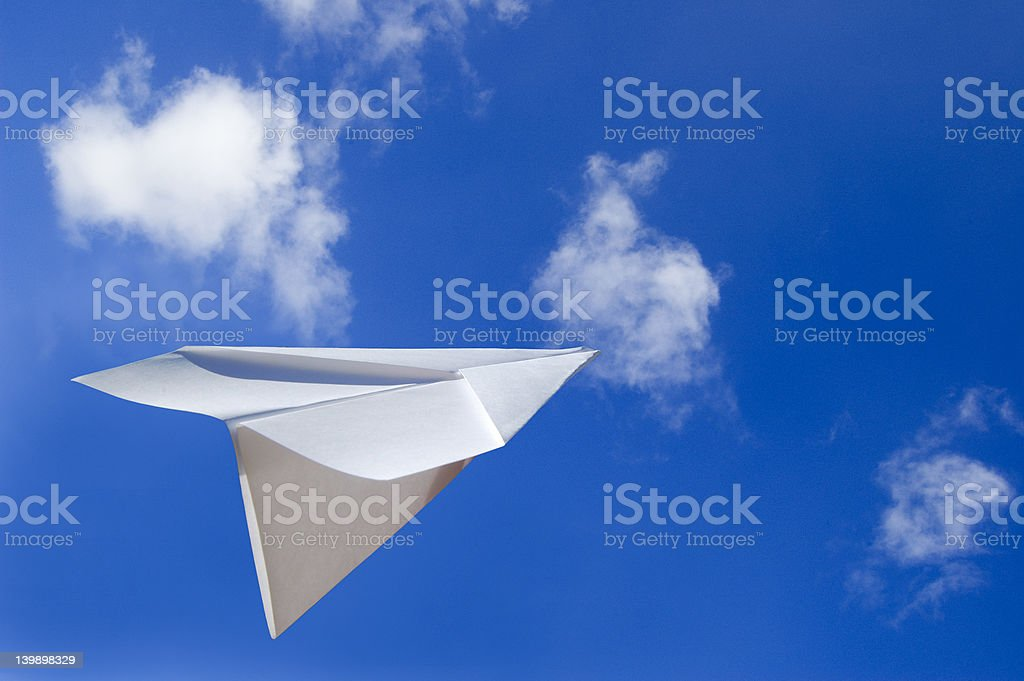 Paper Plane royalty-free stock photo