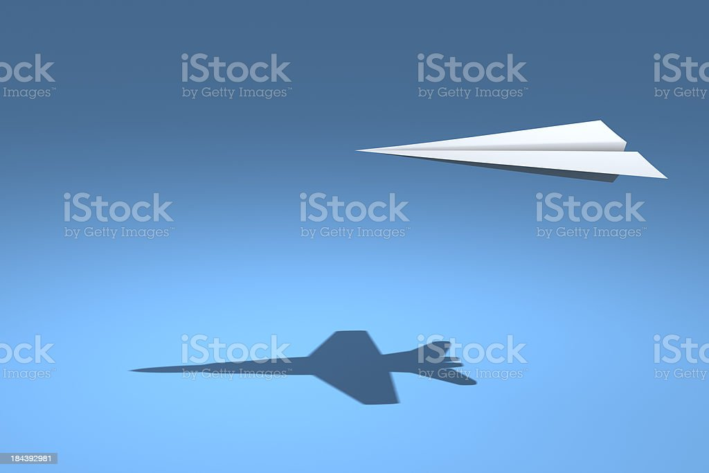 F18 Paper Plane stock photo
