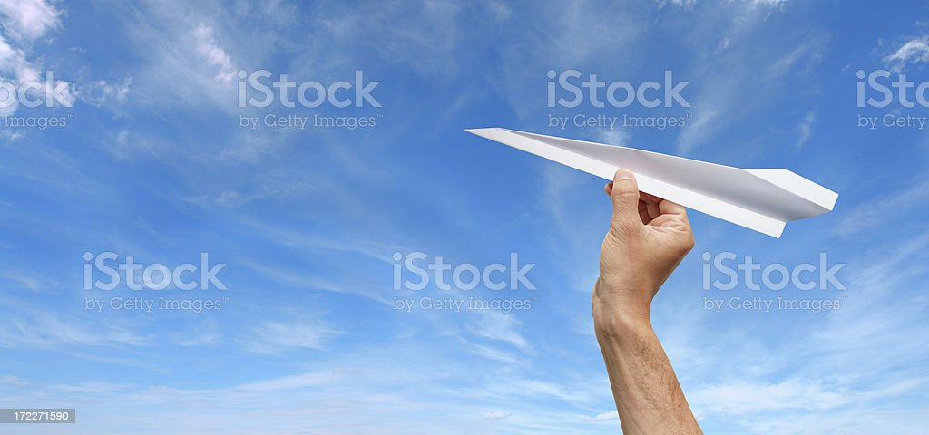 Paper Plane Ready to Fly royalty-free stock photo