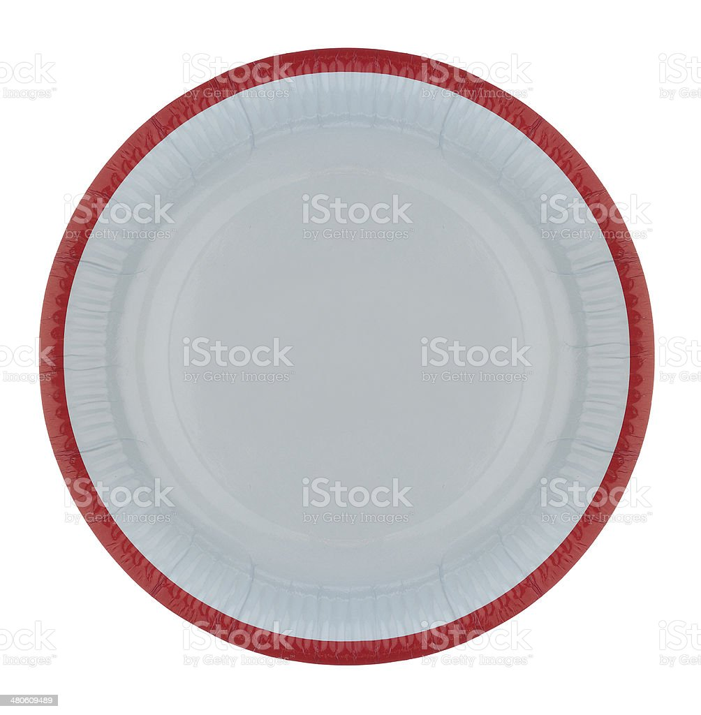 Paper Plate stock photo
