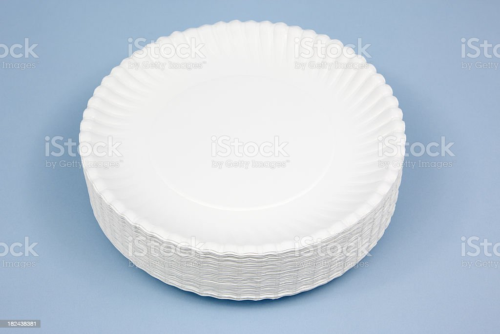 Paper Plates royalty-free stock photo