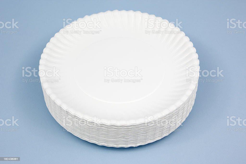 Paper Plates stock photo