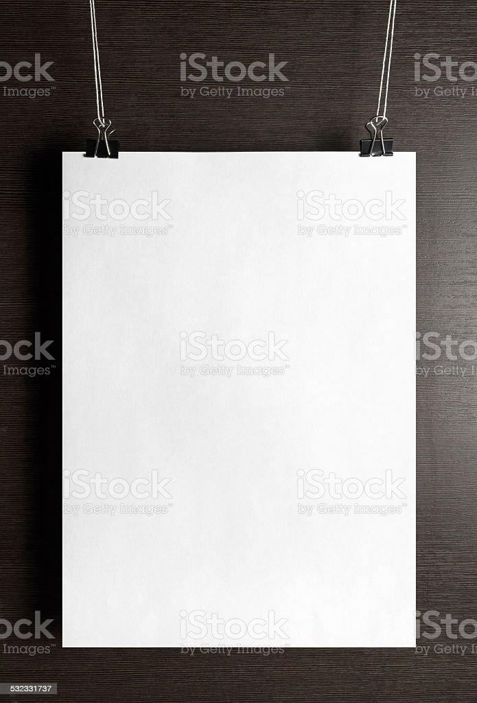 Paper poster stock photo