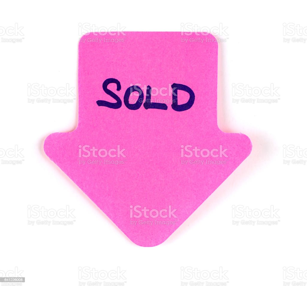Paper Postit Note - SOLD stock photo
