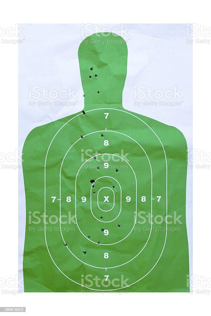 Paper Practice Target stock photo