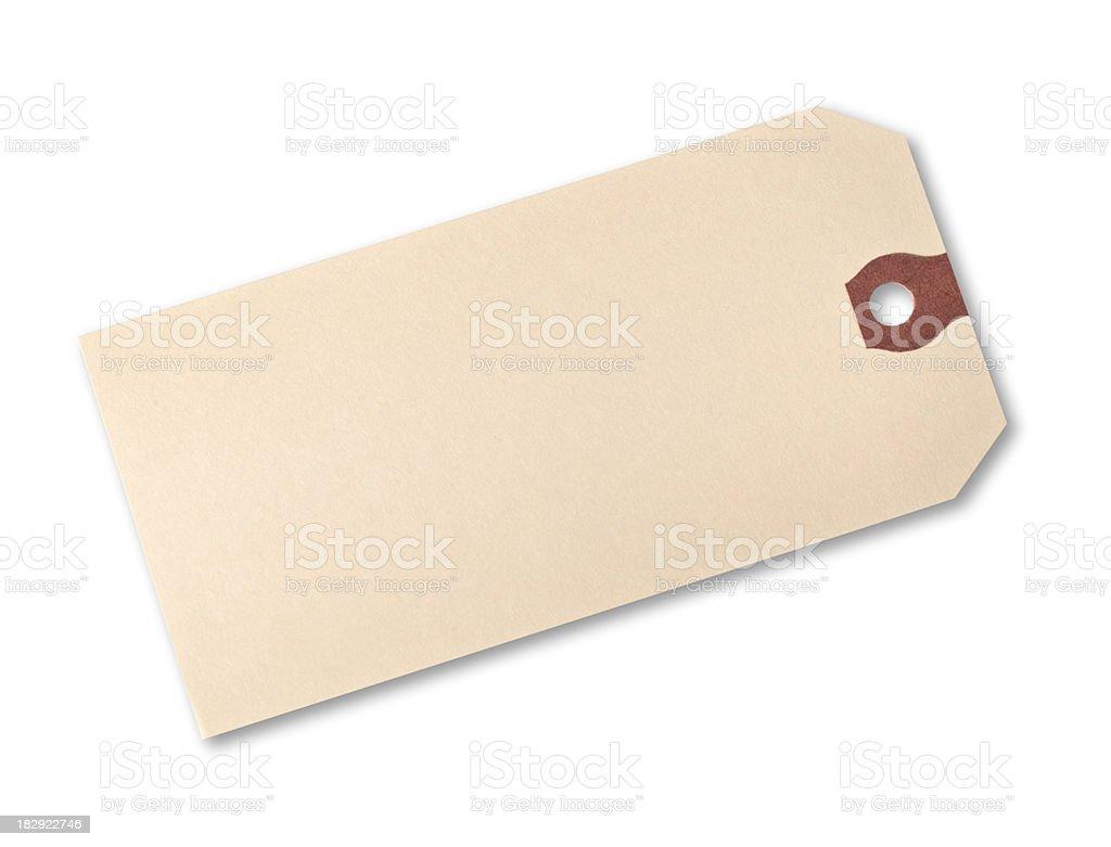 Paper price hang tag royalty-free stock photo