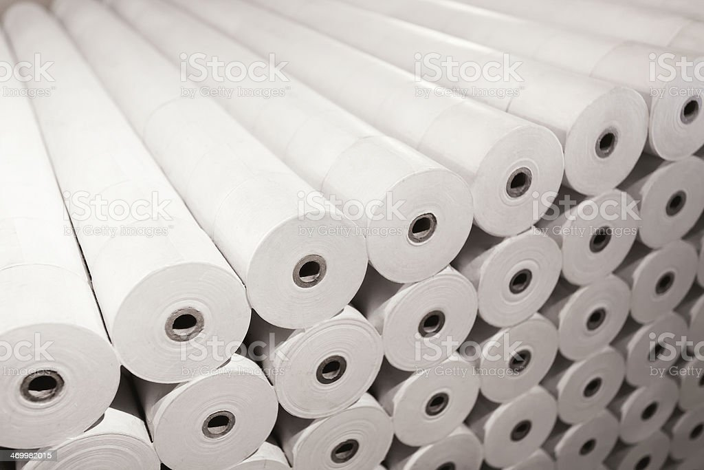 Paper production stock photo