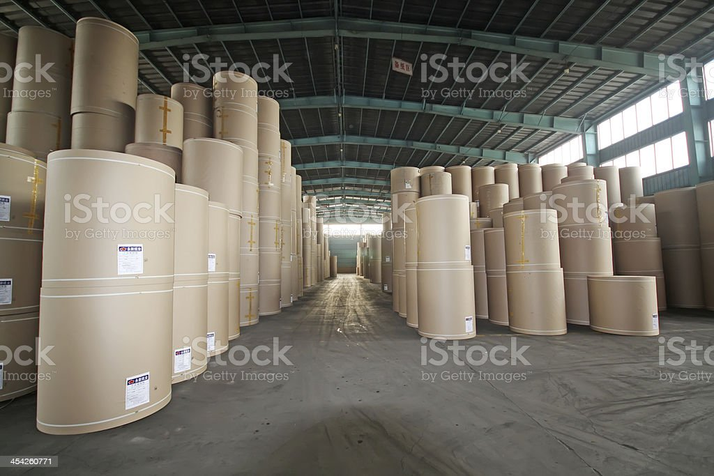 paper products enterprise warehouse stock photo