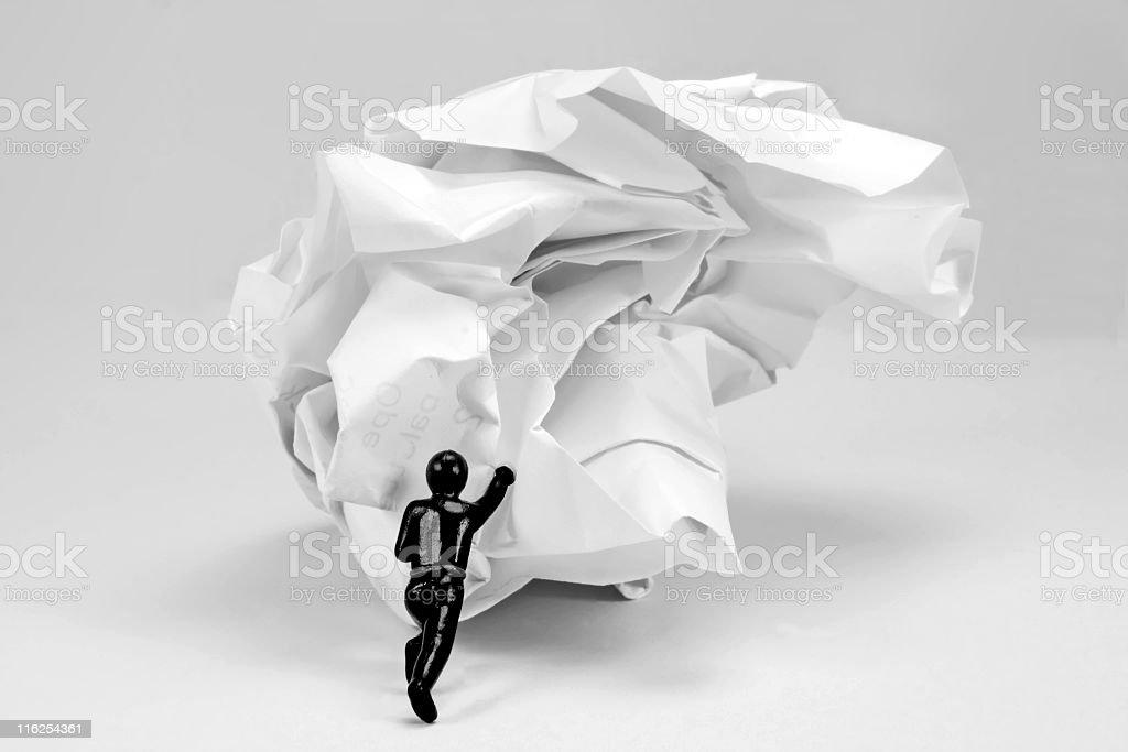 Paper Pusher stock photo