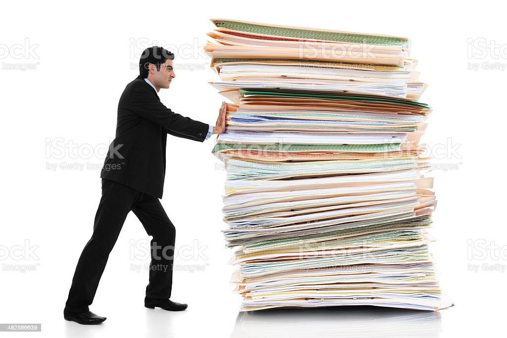 Paper Pusher stock photo