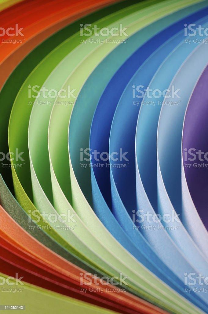 Paper Rainbow... stock photo