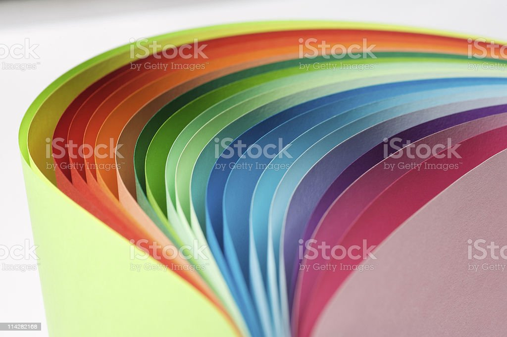 Paper Rainbow... royalty-free stock photo