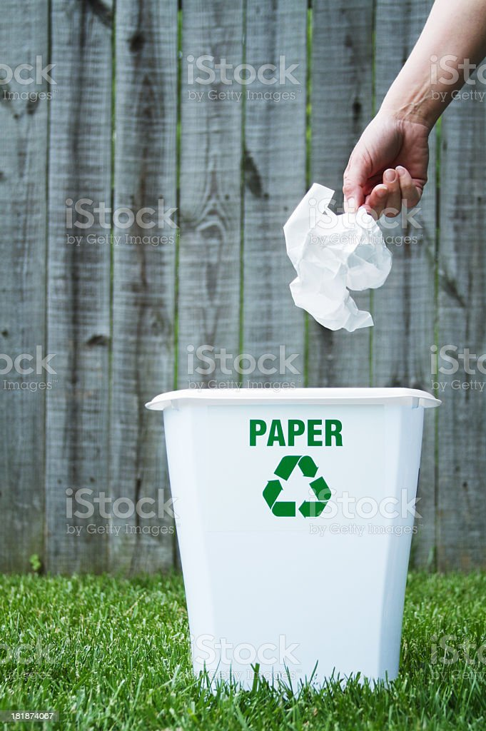 Paper Recycling Bin royalty-free stock photo