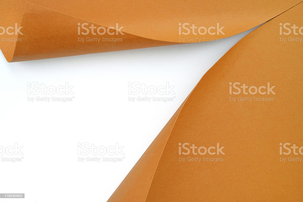 Paper revealing royalty-free stock photo