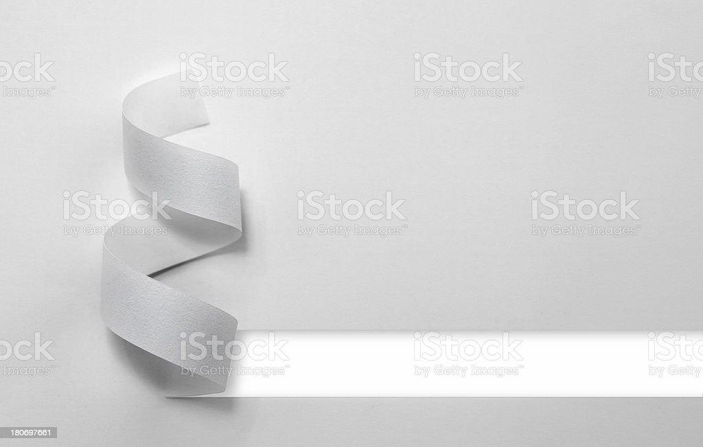 Paper Ribbon royalty-free stock photo