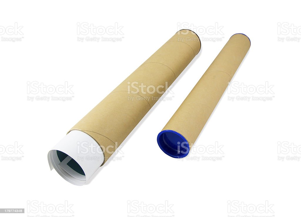 Paper roll containers royalty-free stock photo