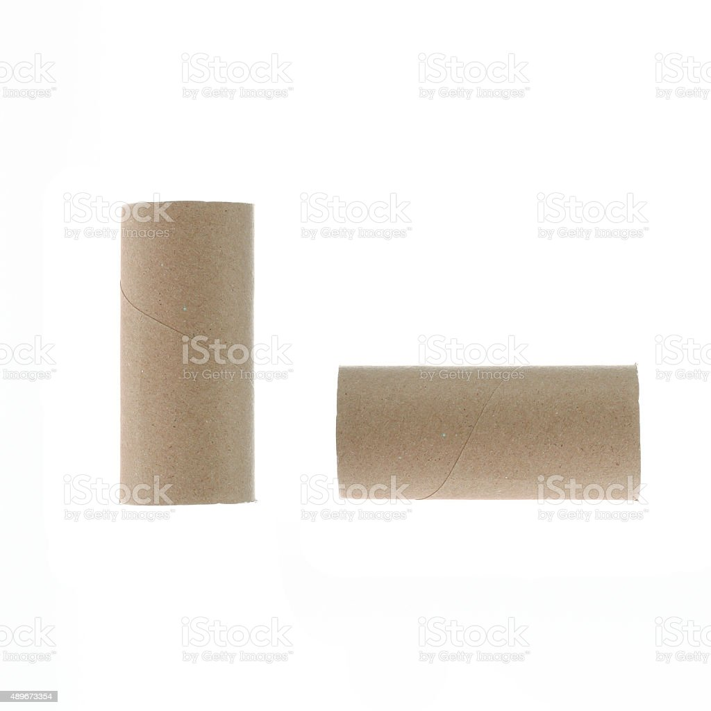 Paper roll isolated on white background. stock photo