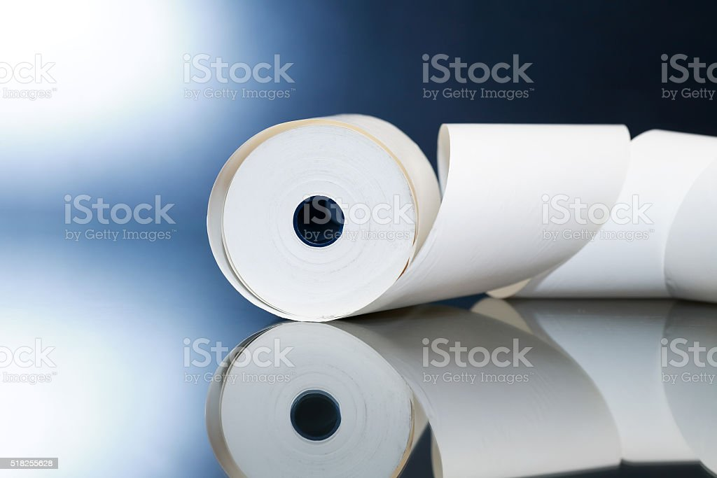 Paper Roll On Dark stock photo