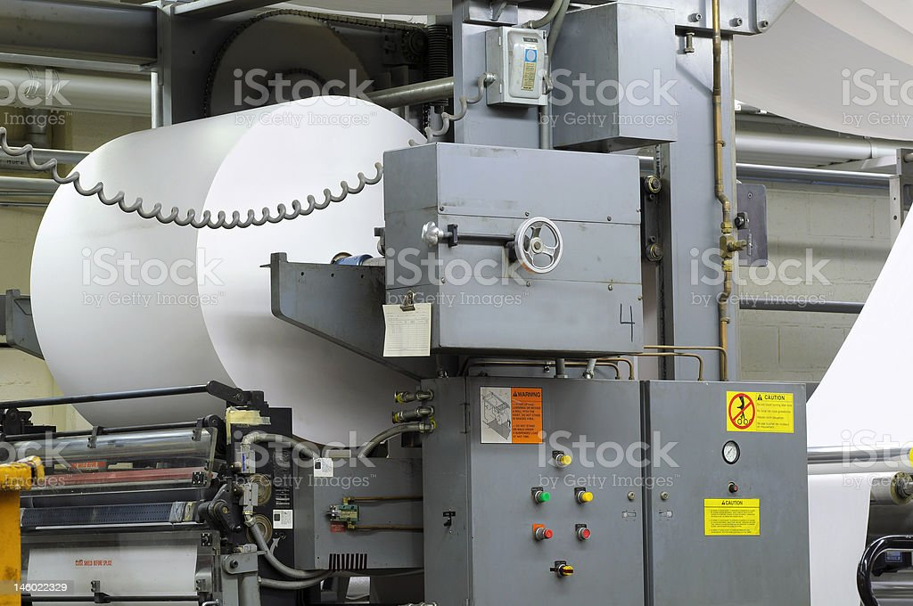 Paper roll stock photo