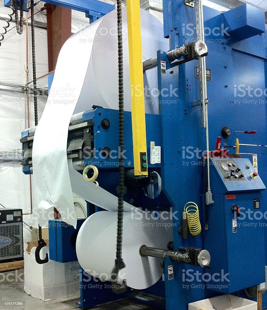 Paper Roll - Printing Press stock photo